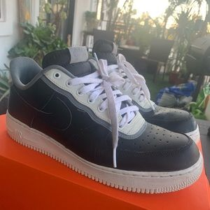 Nike Air Force one black and white model size 10.5